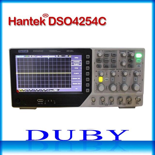 Hantek DSO4254C 4CH 1GS/s örnekleme hızı 250 MHz bant genişliği Dijital Depolama Osiloskop Taşınabilir Entegre USB Ana Bilgisayar/Cihaz