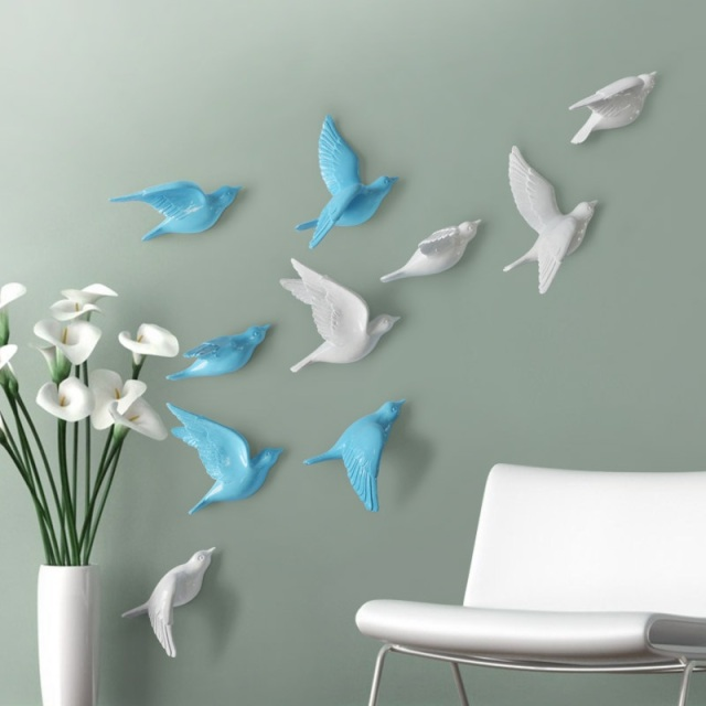 aliexpress.com : acquista resina uccello creativo murales ... - Decori Camera Da Letto
