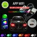 1 пара WI-FI RGB E60 E61 LCI 40 Вт XML Комплект LED Angel Eyes для BMW 5 серии 525I, 525XI, 530I, 545I, 550I, 530XI