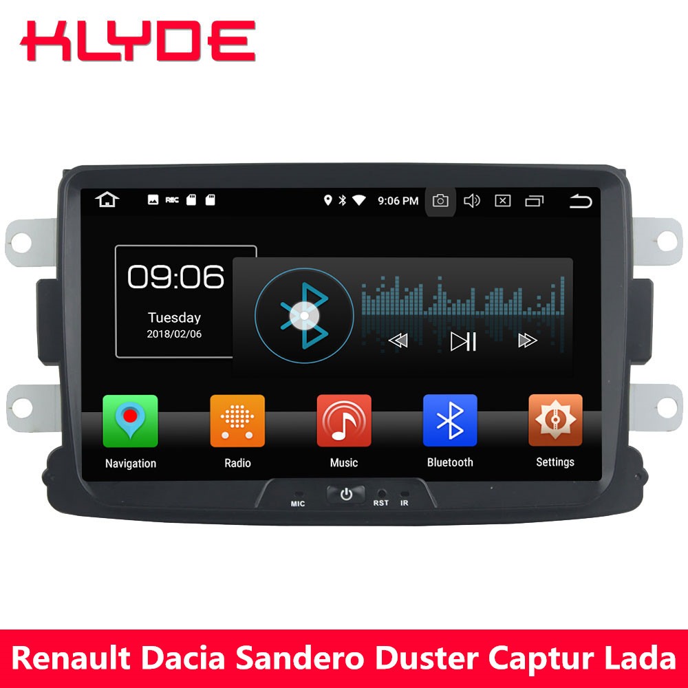 KLYDE 4G Octa Core Android 8.0 4GB+32GB Car DVD Multimedia Player Radio For Renault Xray Logan Dacia Sandero Duster Captur Lada
