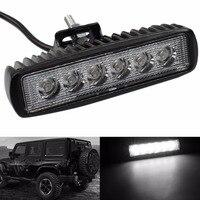 Universal 18 Watt 6 LED Spot Bar Lampe Licht Bar Arbeit fahrlicht Lkw-anhänger Motorrad SUV ATV OffRoad Auto LED Werk lampe