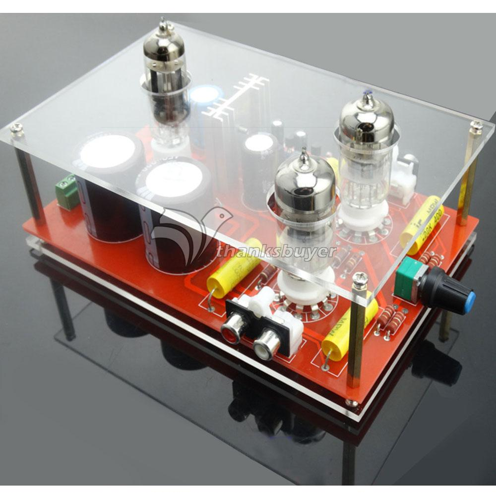 6N3/GE5670 Rectifier Hifi Tube Amplifier Pre-AMP Preamplifier with Toroidal Transformer 110-220V 3206 amplifier aluminum rounded chassis preamplifier dac amp case decoder tube amp enclosure box 320 76 250mm