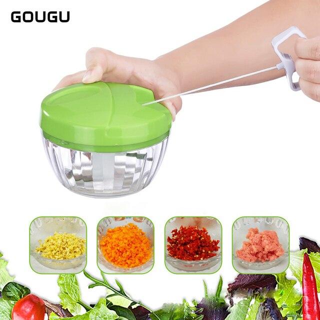 gougu multi functional manual rope food slicer meat grinder fruit vegetable shredder salad maker household