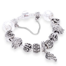 b4d3fda59 White Crystal Angel Wings Charm Pandora Bracelets Bangle Flowers Phiz  Smiling Beads Charms Fit Diy Making Jewelry Gift