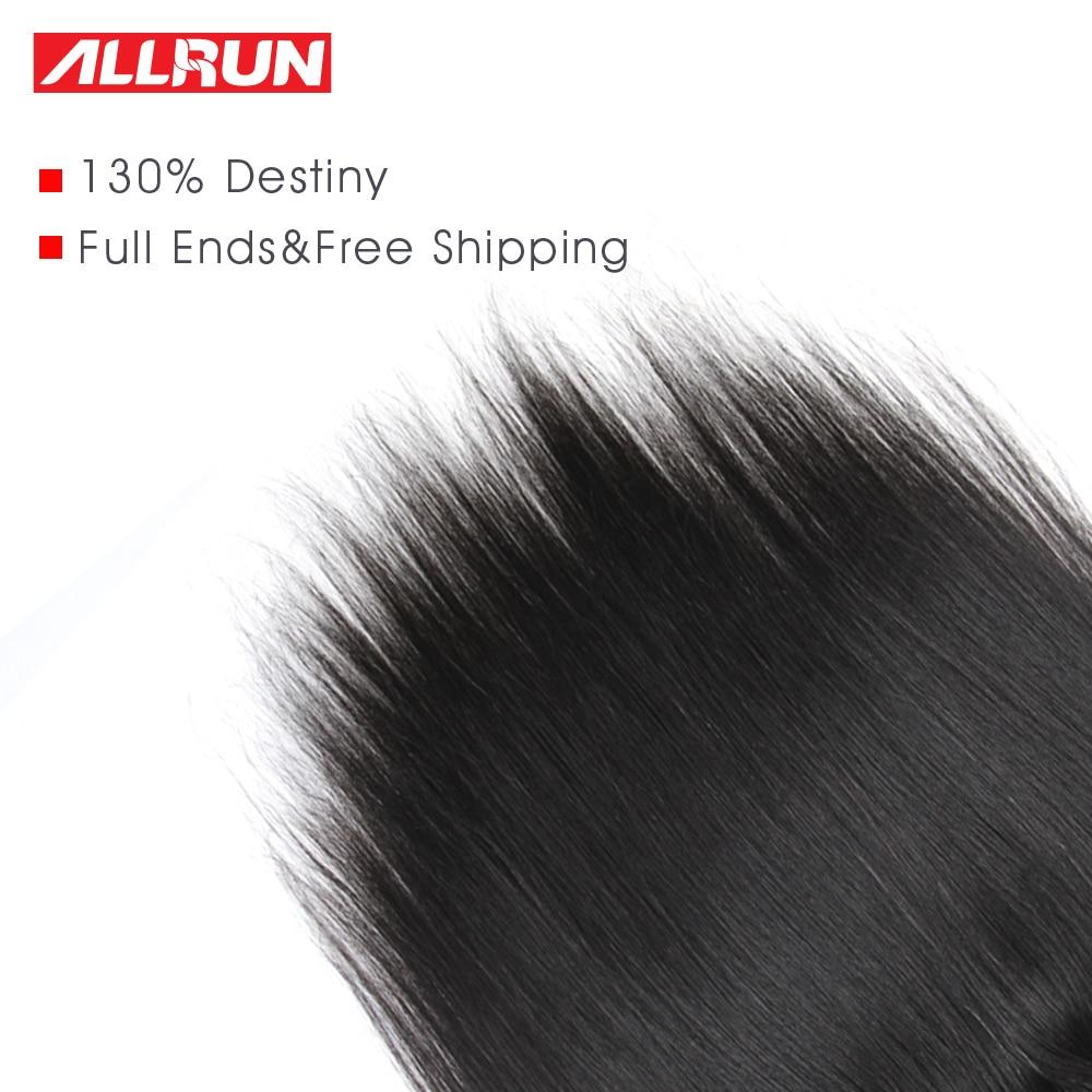 Allrun 13 * 4 귀에 귀에 레이스 정면 브라질 - 인간의 머리카락 (검은 색) - 사진 5