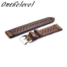 20mm 22mm 24mm watch Strap Genuine Leather Strap Retro Watch Belt Handmade Watchbands With Quick Release Buckle # D все цены