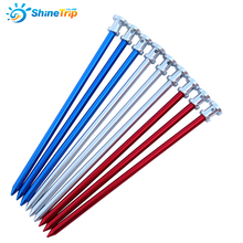 4pcs 23cm Outdoor C&ing Tent Pegs Aluminum Tent Nails Long Garden Stakes (China)  sc 1 st  AliExpress.com & Buy long tent pegs and get free shipping on AliExpress.com