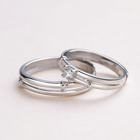 S S925 pure silver couples buddhist monastic discipline affects my heart Fashionable joker ring silver ornaments