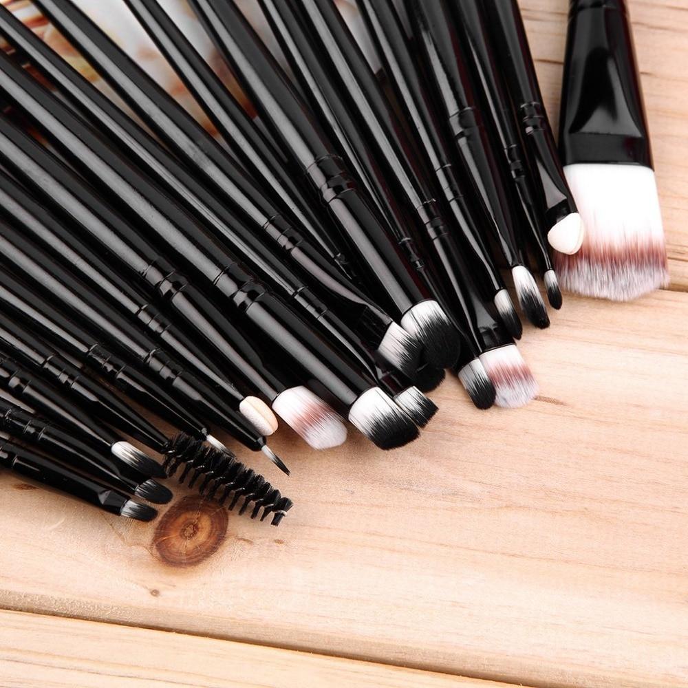 Professional New 20 pcs Makeup Beauty Cosmetic Blush Black Brushes Kits Foundation,Powder Make up brush
