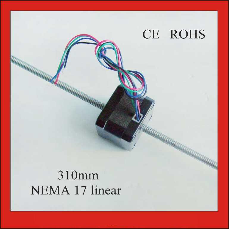 NEMA 17 Linear Stepper Motor Lead Screw 310mm Length T6.35 Pitch 1.59mm 1.8 degreeNEMA 17 Linear Stepper Motor Lead Screw 310mm Length T6.35 Pitch 1.59mm 1.8 degree