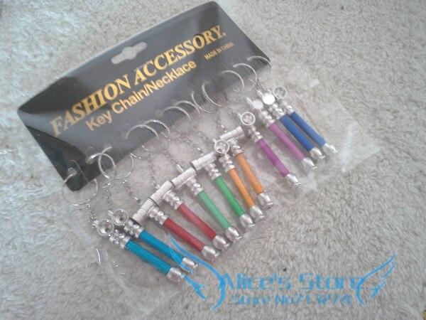 Wholesale 120pcs lot Fashion Mini Cigarette Tobacco Smoking Pipe Metal Pipe Keychian Portable assorted colors