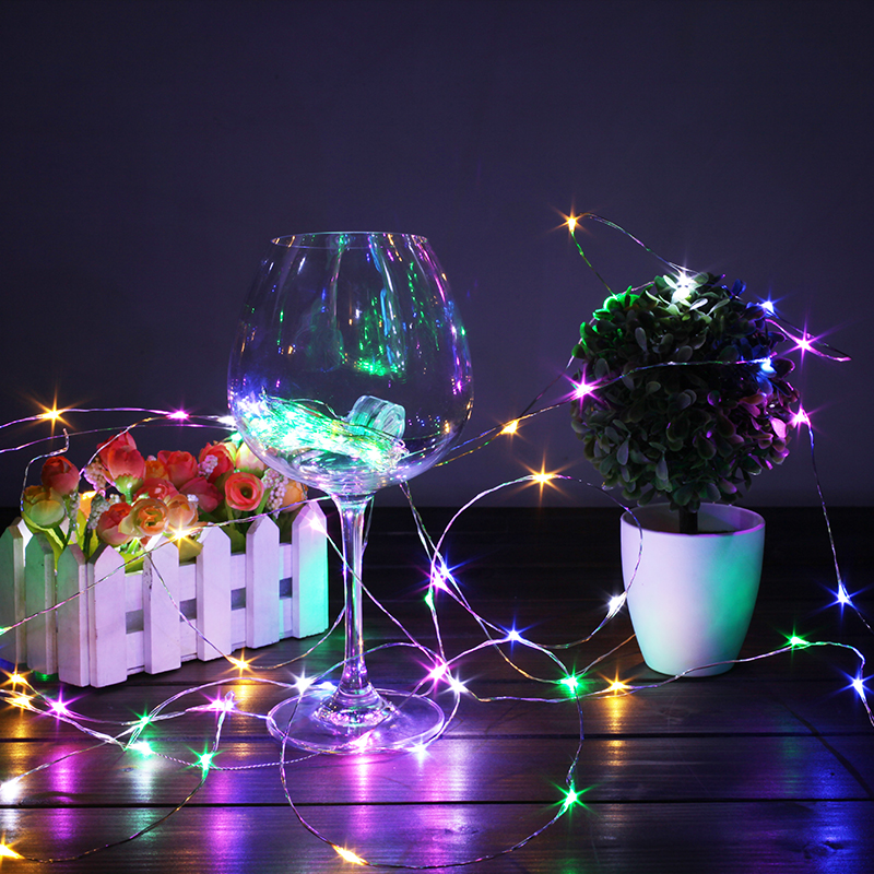 LED Fairy Light 1/2/3/5/10M String Light Battery Powered Garland Copper Wire Gerlyanda for Garden Outdoor Christmas Decoration