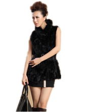 New arrival V184 luxury slim Genuine mink fur coat,Sleeveless autumn winter vest fur women's