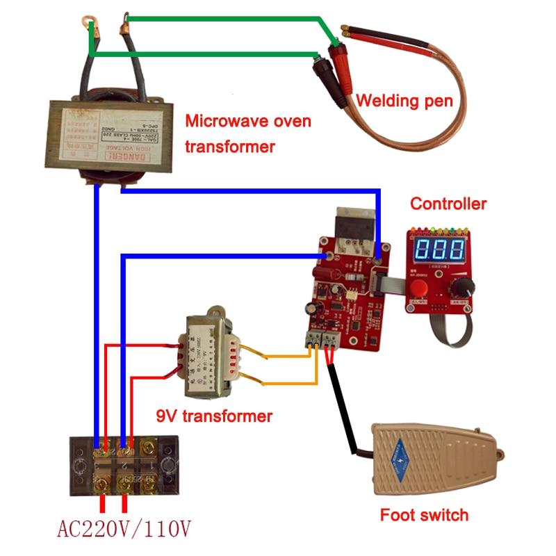 40A Time Current Controller Control Panel Board Spot Welding Machine