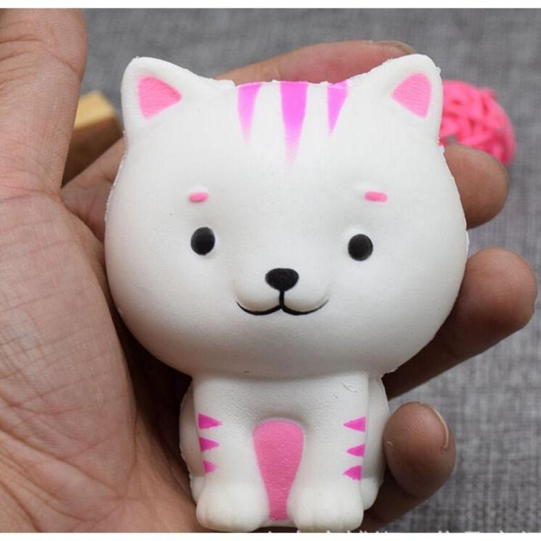 Маленькая кошка замедлить рост Squishies Cat Игрушки-приколы Ароматические Талисманы Kawaii мягкими squeeze подарок AU
