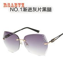 2017 Moda Azul Recubrimiento Sunglass Mujeres Sin Marco Sin Montura gafas de Sol de Los Hombres Marca Diseñado Gafas de Sol Gafas de Sol