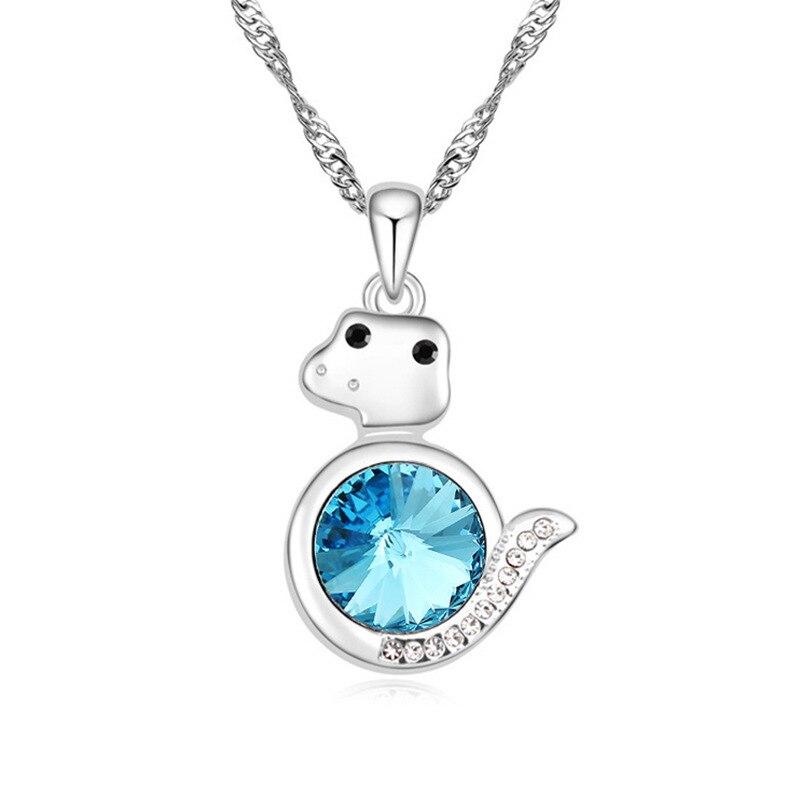 Dainty collier zodiaque pour Femmes Astrologie Signe Zodiaque Bijoux chaîne pendentif en cristal et 925 collier en argent