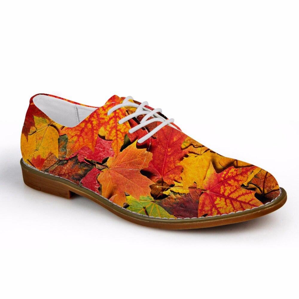Personnalisé 2019 automne hommes chaussures oxford décontractées arbre feuille modèle hommes synthétiques Oxfords chaussures de haute qualité en cuir chaussures