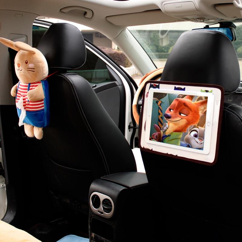 New Arrival car touchscreen chair backpack adjustable angle IPAD mobile phone hanging bag car cartoon bag