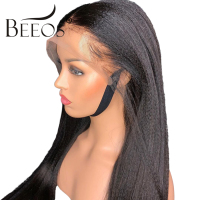 360 Lace Frontal Wig Pre Plucked With Baby Hair Brazilian Yaki Straight Lace Human Hair Wigs For Women Natural Black Remy