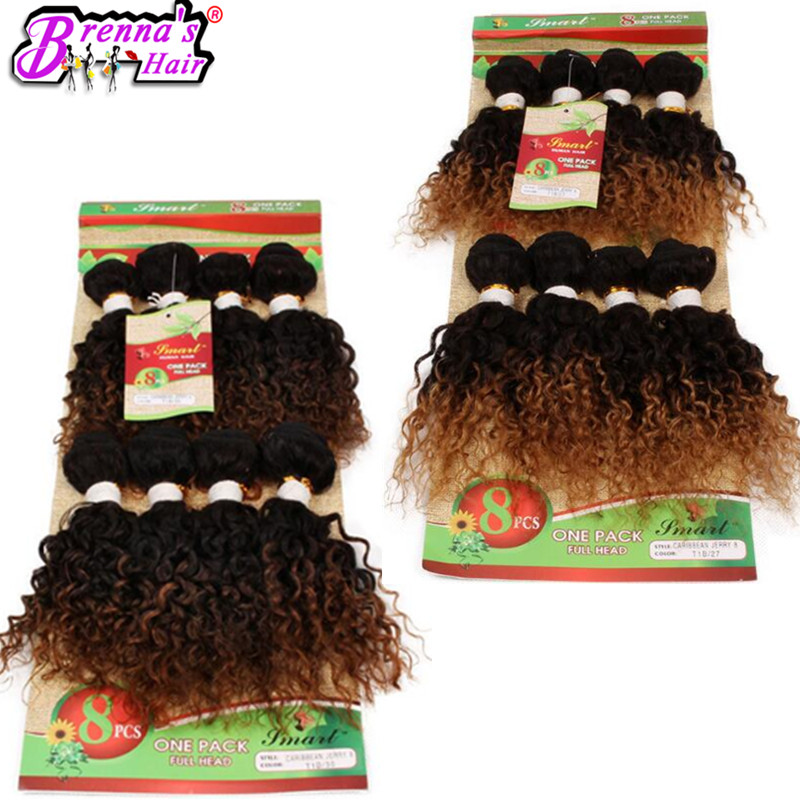 New african curly hair extension 8pcs pre pack human brazilian hair wefts South africa curly hair bundles loose wave hairstyles
