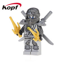 50Pcs XH 093 Ninja Super Heroes Zane First Nindroid Wei Sanke Master Chen Cybord Building Blocks Bricks Toys For Children Gifts(China)