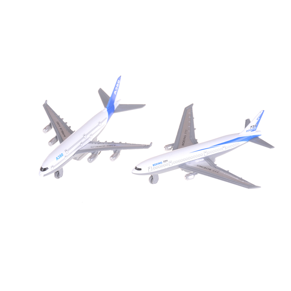 1pcs Alloy Aircraft Model Kids Toys Airbus A380 Boeing 777 Model Toy 14cmx12cmx4.5cm Boys Best Gift Toy image