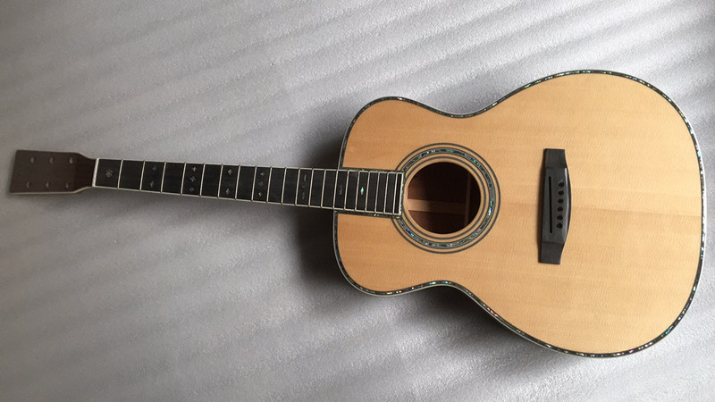 2018 New + Factory + Om42 Acoustic Guitar Om-42 Acoustic Electric Guitar Round Body Classic Om Acoustic Guitar Solid Top Guitar Excellent In Cushion Effect