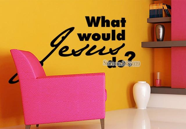 Slaapkamer Muur Quotes : Wat zou jezus doen decals quotes slaapkamer diy zelfklevende sofa