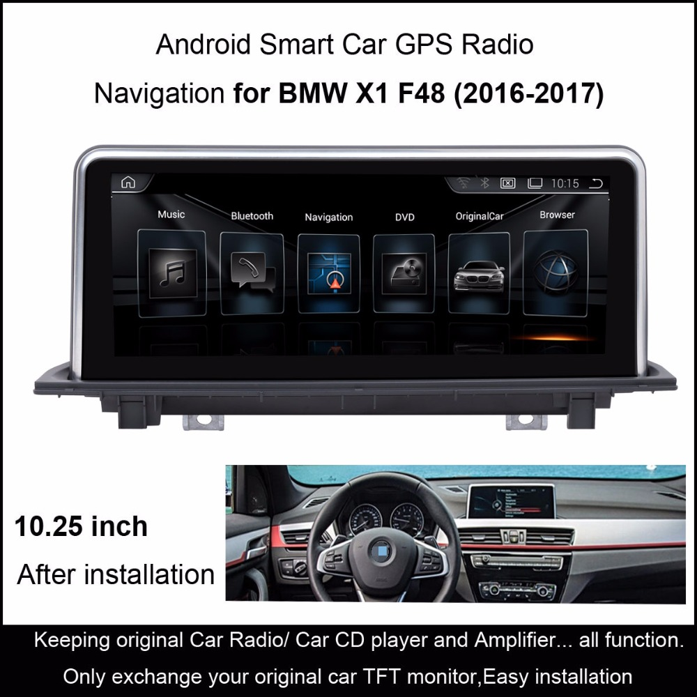 android 4 4 car gps navigation for bmw x1 f48 2016 2017 radio audio stereo mp5. Black Bedroom Furniture Sets. Home Design Ideas