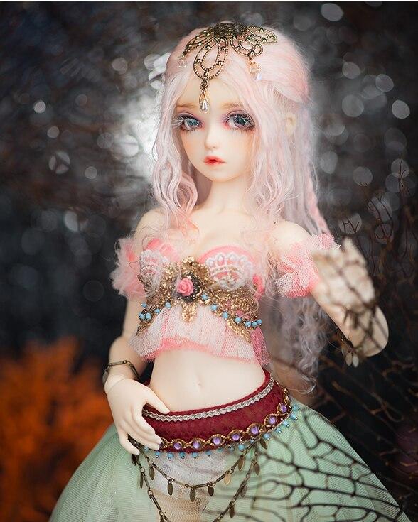 New baby fashion bjd doll 1 4 point girl free eyes