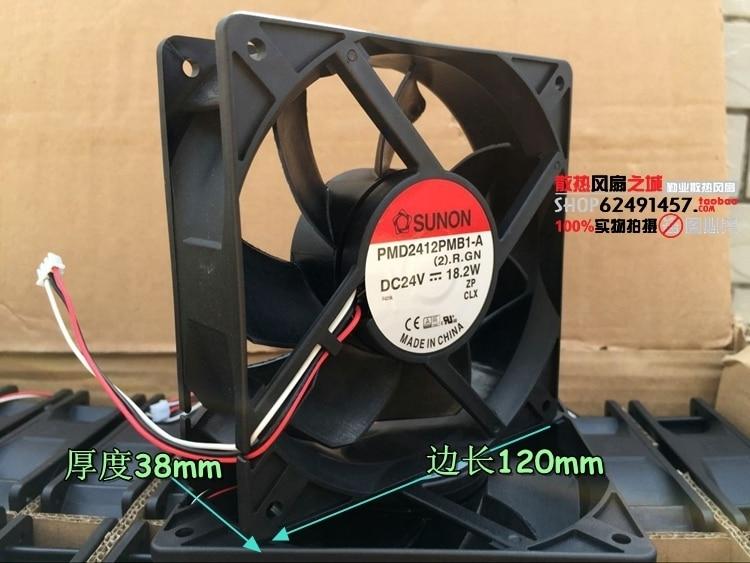 for SUNON PMD2412PMB1-A 12CM 24V 18.2W 12038 Inverter Cooling Fan