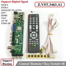 Z. VST.3463.A1 Поддержка Цифрового сигнала DVB-C DVB-T/T2 с 7 ключ кнопка Включения Универсальный ЖК-ТЕЛЕВИЗОР Драйвер Контроллера лучше, чем V56