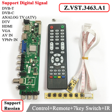Z. VST.3463.A1 Compatible Con la señal Digital DVB-C DVB-T/T2 con 7 llave Del Interruptor de botón Universal TV LCD Controlador de la controladora mejor que V56
