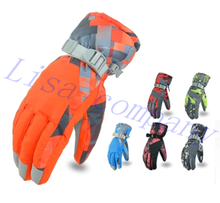 2016 hot sale a pair of winter riding gloves cold proof waterproof outdoor ski glove thickening