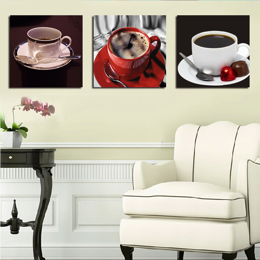 New Arrival New Kitchen Coffee Wall Art Painting Home Decor Canvas ...