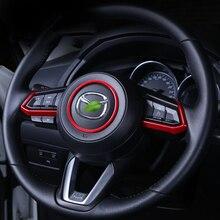 Рулевого колеса автомобиля отделка круг блестки крышка Стикеры для Mazda 3 6 CX3 CX-3 CX-5 CX5 CX8 CX 9 Axela ATENZA 2017 2018 аксессуары