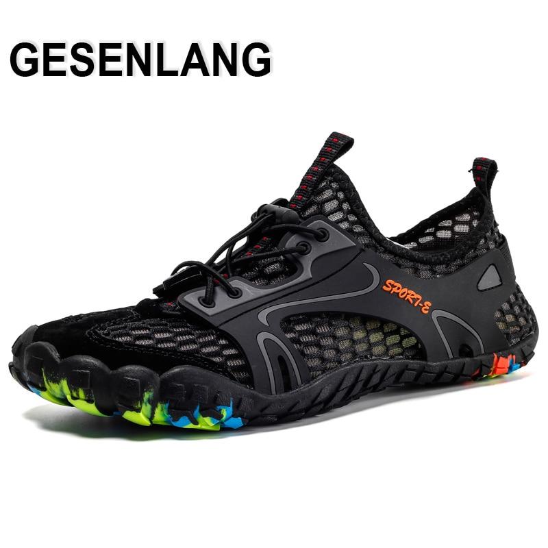 262e1577b24b Hombres pies descalzos Fiver dedos Aqua zapatos tamaño grande hombre  transpirable secado rápido ...
