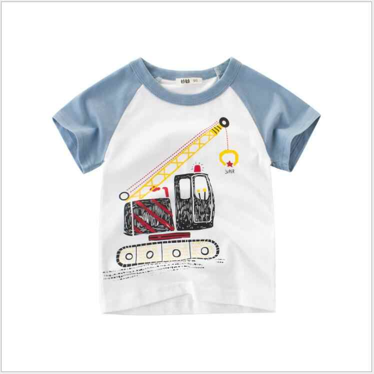 53d38094d ... 1-8Y Kids Boys T Shirts Excavator Cartoon Tops Cute Baby Cotton Top  Summer Clothing ...