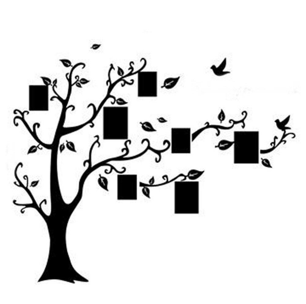 Aliexpress Com Buy Diy Photo Frame Tree Flower Art Mural