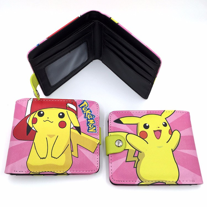 Hot Pokemon go comic cute wallets Mewtwo Squirtle Jigglypuff woman man purse pokemon ball wallet for pikachu fans oreimo comic anthology