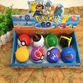 8Pcs/set Pokeball with Elf Anime Toys figurine Sets Action Figures Mini Doll Models Toys For Children Kids Gifts Pokeball Toys