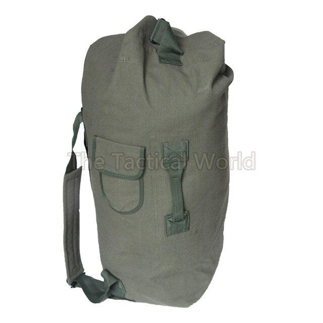 48617e3aa5 40L Besar Hijau Kanvas Tas Travel Bagasi Ransel Tentara Luar Untuk Berburu  Hiking Camping Pria Taktis