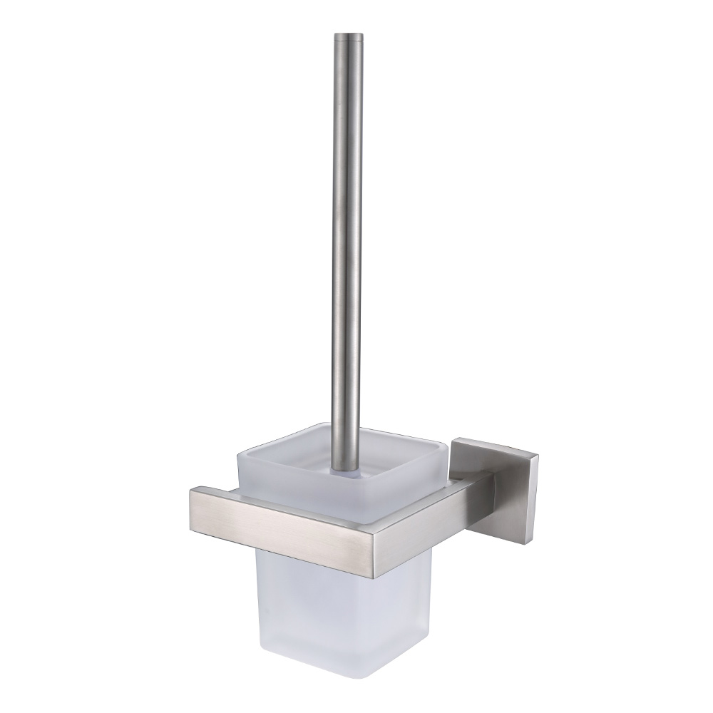 AUSWIND Wall Mount Solid Square Brushed Toilet Brush Holder ...