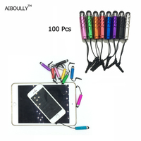 100Pcs Universal Metal Touch Screen Stylus Pen For IPad For IPhone For Samsung Tablet PC Smart