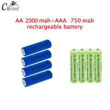 20 pcs blue AA 2300mAh Ni-MH Rechargeable Batteries + AAA 750mAh