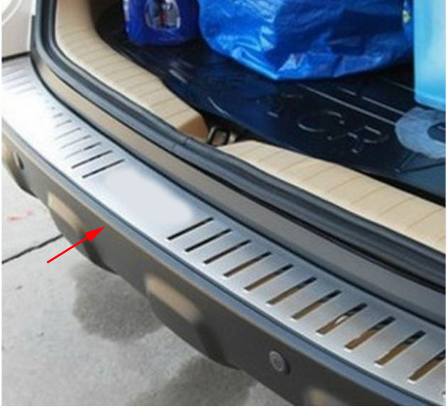Stainless steel rear bumper protection window sill outside trunks decorative plate pedal suitable CRV CR-v 2007-2011 With logo new arrival for lexus rx200t rx450h 2016 2pcs stainless steel chrome rear window sill decorative trims