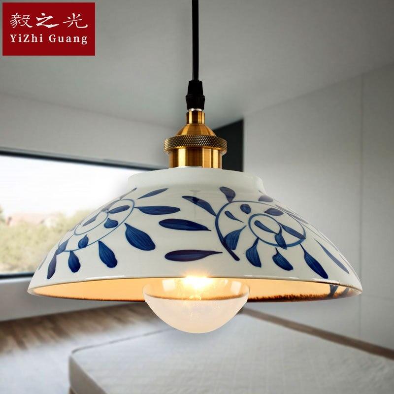 Стильная лампа и фонари лампа Светодиодная подвесная ручная цветная рисованная или узорная лампа для гостиной - 2