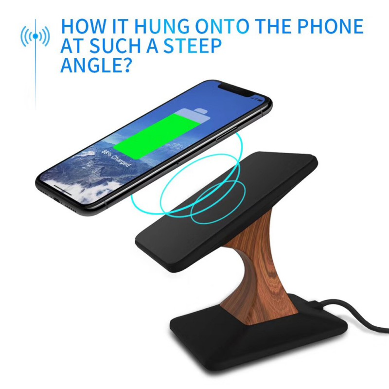 NEW Fashion style Qi Standard Wireless Charger Stand 10W Charging Holder For Android For IPhone Wood Grain BracketNEW Fashion style Qi Standard Wireless Charger Stand 10W Charging Holder For Android For IPhone Wood Grain Bracket