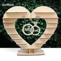 Ourwarm Candy Bar Stand Bruiloft Tafel Decoratie Middelpunt Houten Hart Ferrero Rocher Chocolade Stand Verjaardagsfeestje Supplies